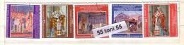 Bulgaria/Bulgarie 1979 Frescoes Rome - Basilika San Clemente 5v.- Used/oblit.(O) - Gebraucht
