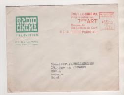 THEME CINEMA RADIO - EMA 1954 TOUT LE CINEMA DANS LA COLLECTION 7EME ART - ENVELOPPE RADIO CINEMA TELEVISION PARIS - Cinéma