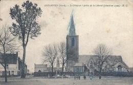 NORD PAS DE CALAIS - 59 - NORD  - ANNAPES - Place Et Arbre De La Liberté Planté En 1792 - Andere Gemeenten