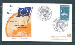 Enveloppe Avec Jumelage  Avec Le   N°1490   17 Et 18/12/66 - Postdokumente