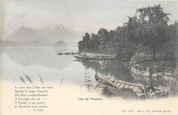 Lac De Thoune - Barques - Poème De W. Pilet - Edition T. Pfaff - Carte Précurseur, Colorisée, Non Circulée - BE Berne