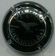 CAPSULE-CHAMPAGNE MARTEL GH N°26a Noir & Métal - Martel GH