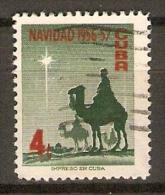 CUBA.     1956.   Y&T N° 446 Oblitéré.     Navidad /  Noêl  /  Chameau. - Cuba