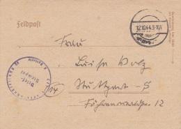 Feldpost WW2: From A 1st Leutenant In 6./F.E.A. 96 In Dortmund-Dorstfeld P/m 12.10.1944 - Letter Inside  (G61-67) - Militaria