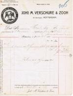 1910 JOHs M. VERSCHURE & ZOON FROMAGE DE HOLLANDE 26 BOOMPJES ROTTERDAM - Pays-Bas