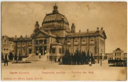 Zagreb Pavillon Des Arts Old Postcard Travelled 1910 Bb - Croazia