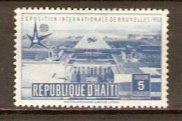 HAITI.    Aéro .      1958.   Y&T N°122 *.   Exposition De Bruxelles - Haiti