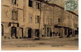- FRANCE (83) - CPA Ayant Voyagé TOURTOUR 1910 - La Place (avec Personnages) - Edition Joseph Meiffret - - France