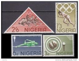Nigeria, 1964, Tokyo Olympics, Souvenir Sheet,  Miniature Sheet, Atheletics, Pole Vault, Set 4 V,   MNH, (**) - Estate 1964: Tokio