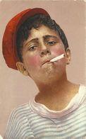 CP Napoli Neapel Junge Mit Zigarette Tipi Napolitani Volkstypen Color 1932 #21 - Europe