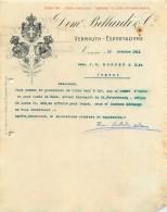 FACTURE LETTRE : TORINO . DOM. BALLARDI ET CIE . 1911 . - Italia