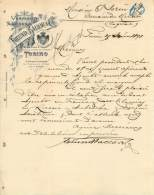FACTURE LETTRE : TORINO . FREUND BALLOR ET CIE . 1898 . - Italie