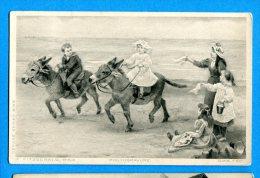 Lipp477, Fitzgerald,Pinx,Photogravure, 6149, Course D'âne Avec Des Enfants, Circulée 1908 - Ezels