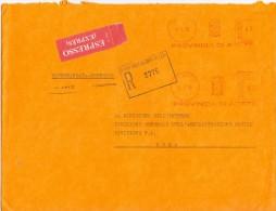 PROVINCIA DI AREZZO - 52100 AREZZO  - R/EXP/AMR - 1980 - FTO 18X24  - TEMATICA TOPIC STORIA COMUNI D´ITALIA - Affrancature Meccaniche Rosse (EMA)