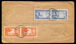 CAYMAN ISLANDS GEORGE SIXTH REGISTERED FARTHING NORTH SIDE POSTMARK 1949 - Cayman Islands