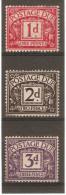 GREAT BRITAIN 1937 - 1938 POSTAGE DUES 1d, 2d, 3d SG D28 - D30 LIGHTLY MOUNTED MINT Cat £16.25 - Portomarken