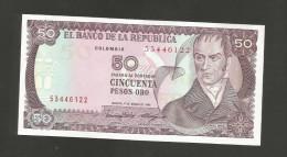 COLOMBIA - El BANCO De La REPUBLICA - 50 PESOS De ORO (1986) - CAMILO TORRES - Colombie