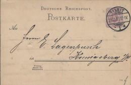 % DR PK GS Postkarte Ganzsache P18 - Stempel: Tilsit - Ostpreußen 1888 O - Deutschland