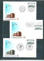 3 Premiers Jour Cachets Différent Avec Le N°1463  6 Et 7 Novembre 1965 - Documents Of Postal Services
