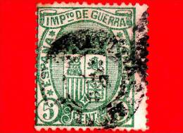 SPAGNA - Usato - 1875 - Imposta Di Guerra - Stemmi Araldici - Coat Of Arms - IMPto DE GUERRA - 5 - Tasse Di Guerra