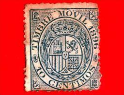 SPAGNA - Usato - 1896 - Fiscali - Stemma - Timbre Movil - 10 - Fiscali
