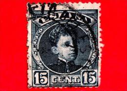 SPAGNA - Usato - 1901 - Ritratto Di Alfonso XIII Giovane - 15 - 1889-1931 Regno: Alfonso XIII