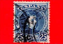 SPAGNA - Usato - 1901 - Ritratto Di Alfonso XIII Giovane - 25 - 1889-1931 Regno: Alfonso XIII