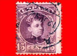 SPAGNA - Usato - 1902 - Ritratto Di Alfonso XIII Giovane - 15 - 1889-1931 Regno: Alfonso XIII