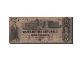 Etats-Unis, Obsolètes, Rhode Island, 5 Dollars 20.10.1855 - Bankbiljetten