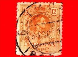 SPAGNA - Usato - 1917 - Re Alfonso XIII - Medaglione - Numero Di Controllo Sul Retro - 15 - 1889-1931 Regno: Alfonso XIII