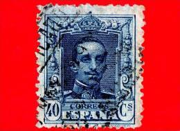 SPAGNA - Usato - 1923 - Re Alfonso XIII - Ritratto Rivolto In Avanti - 40 - 1889-1931 Regno: Alfonso XIII