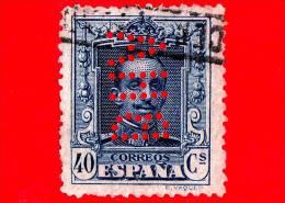 SPAGNA - Usato - 1923 - Re Alfonso XIII - Ritratto Rivolto In Avanti - 40 Perforato - 1889-1931 Regno: Alfonso XIII