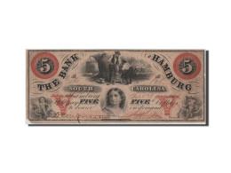 [#44719] Etats-Unis, Obsol�tes, South Carolina, Bank of Hamburg, 5 Dollars 24.9.1860