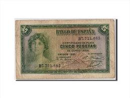[#307194] Espagne, 5 Pesetas Type 1935 (1936) Silver Certificate - [ 2] 1931-1936 : République