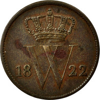 Monnaie, Pays-Bas, William I, Cent, 1822, TTB, Cuivre, KM:47 - 1815-1840 : Willem I