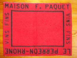 Tapis de cartes - Maison F. PAQUET - LE PERREON RHONE - Vins fins -