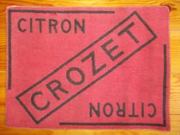 Tapis de cartes - CITRON CROZET -