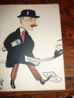 2 Carricatures Signées 1916 Dedicacées - Dessins