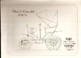 Photo 20 x 25 - du Croquis de la FIAT - 1899