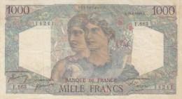 RARE Billet 1000 F Minerve & Hercule Du 29-6-1950 Alph. F.663 DERNIERE DATE D'EMISSION - 1 000 F 1945-1950 ''Minerve Et Hercule''