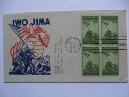 US 1945 IWO JIMA USMC MARINES FDC FIRST DAY COVER WITH WASHINGTON MARK - Sobre Primer Día (FDC)