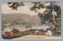 Sri Lanka Ceylon 1925-08-16 Kandy Wace Park Foto Plâté - Sri Lanka (Ceylon)