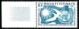 WALLIS ET FUTUNA 1958 - Yv. 160 ** SUP Bdf Variétés  Cote= 4,70 EUR - Déclaration Des Droits De L'Homme ..Réf.W&F216 - Wallis And Futuna
