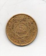 Maroc. 5 Francs. Alu-br - Maroc