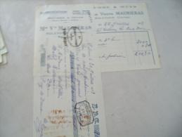 Ancienne Facture  Lettre Change Egletons Maurieras - 1900 – 1949