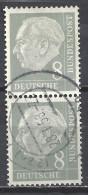 Deutschland BRD 1954 Mi 182, 8 Pf. Senkrechter 2er Streifen, Siehe  Guten Scan, Sc # 707, Yv 66, Theodor Heuss - BRD