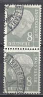 Deutschland BRD 1954 Mi 182, 8 Pf. Senkrechter Zweierstreifen, Siehe  Guten Scan, Sc # 707, Yv 66, Theodor Heuss - BRD