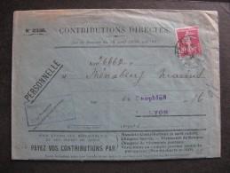 Se 70 - TB Enveloppe  Affranchie Avec N° 190 ;  De Lyon Pour Lyon ( 15/ .. /1934 ) - Postmark Collection (Covers)