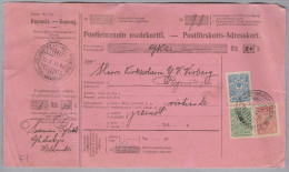 Finland Helsinski1915-10-11 Paketkarte Nach Rymättyla - 1856-1917 Administration Russe