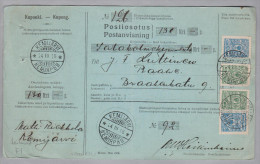 Heimat Finland KEMIJÄRVI 1916-03-24 Paketkarte Nach RAAHE - 1856-1917 Administration Russe